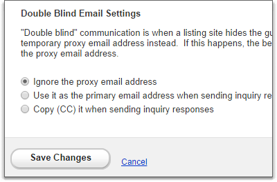 double blind email settings