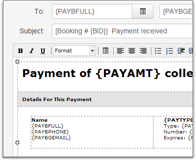 Payment Template Use Default In Editor  Payment Received Format