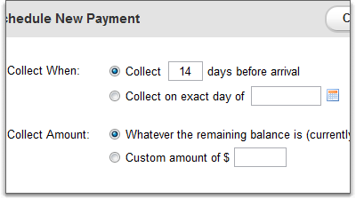 Smarter collection options for scheduled payments
